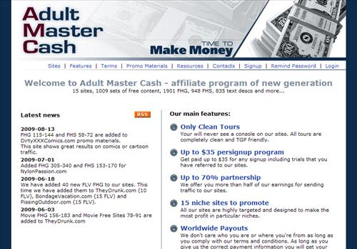 You can earn money by promoting adult paysites listed below, ...